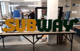 Illuminated letters SUBWAY